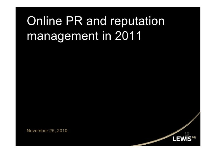 Eb Adeyeri from Lewis PR on digital trends for 2011