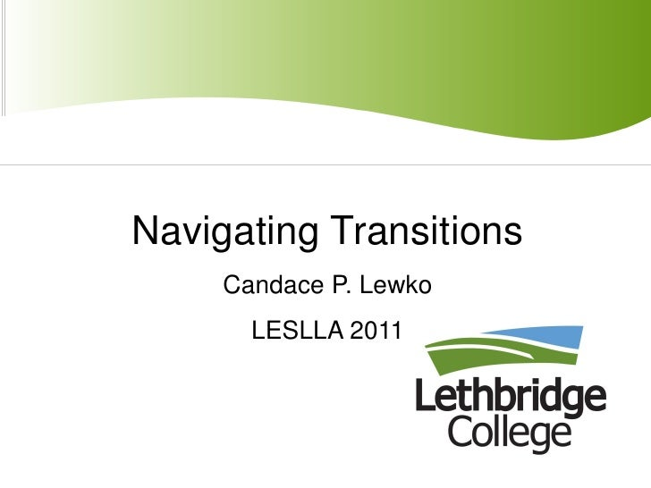 Lewko navigating transitions_leslla2011