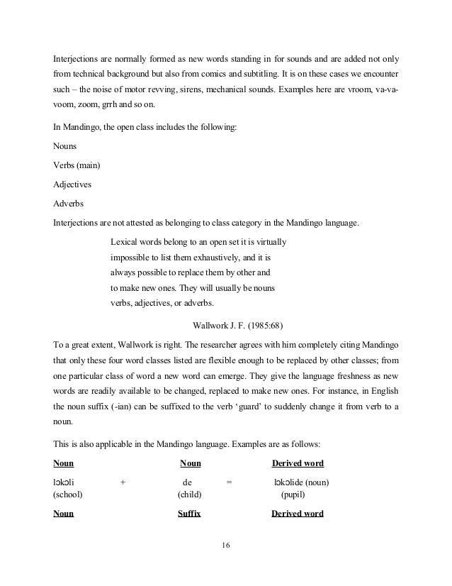 Compound word dissertation