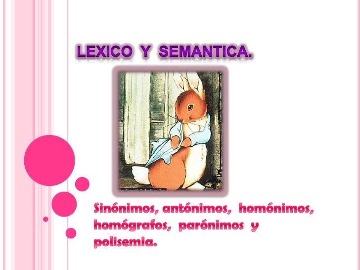 lexico y semantica:
