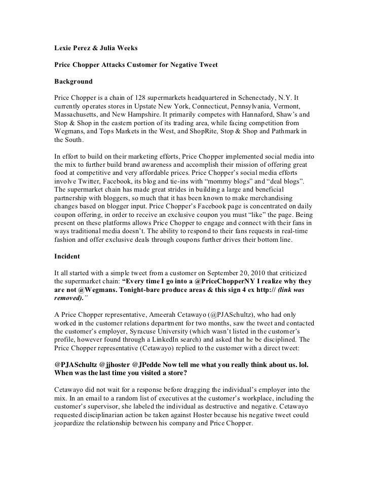Lexie Perez & Julia Weeks Price Chopper Case Study