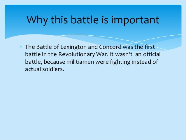 essay on battle of lexington and concord