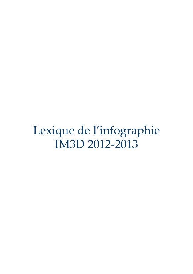 Lexique de l'infographie IM3D 2012-2013