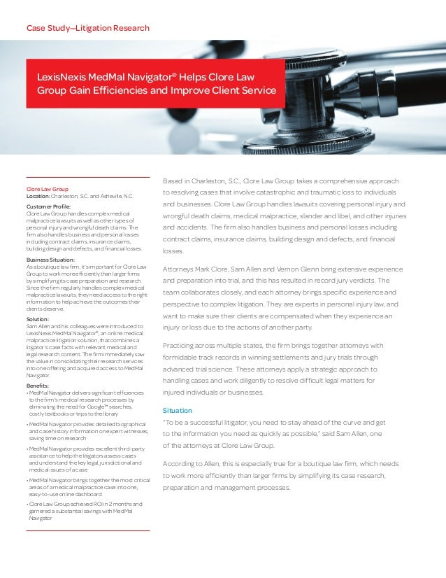 case study medical malpractice lawsuit Medical malpractice cases involving nurses: and continues to fuel collaboration to prevent medical harm and promote care improvements case study: failed.