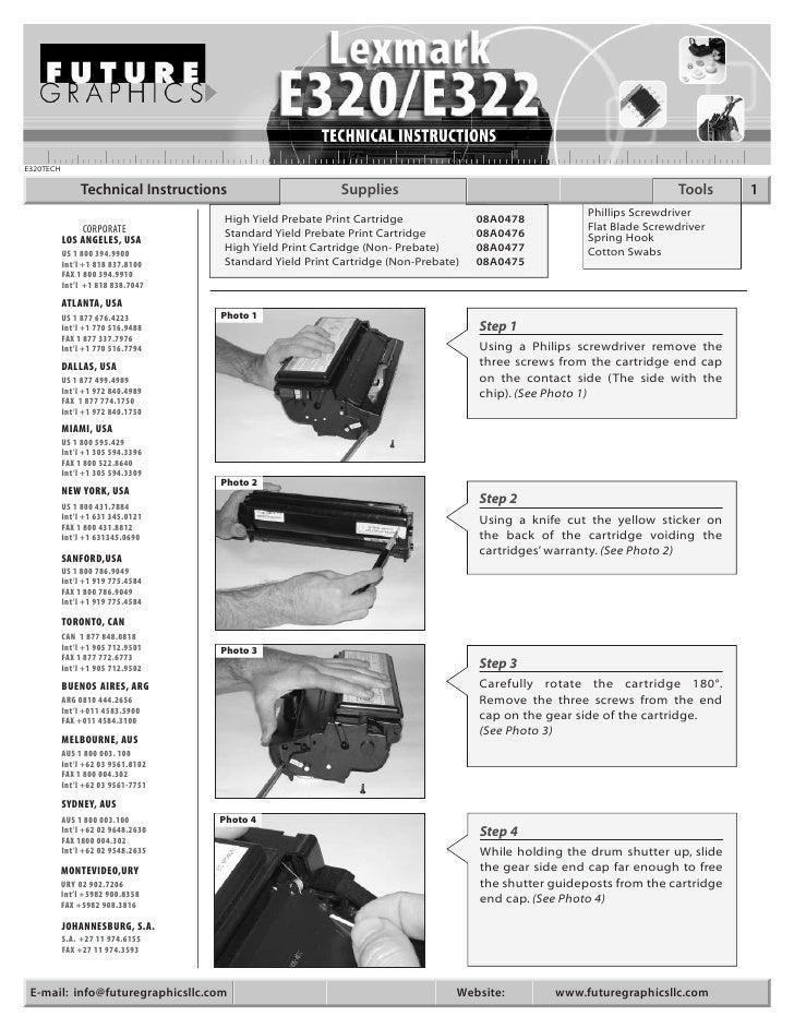 E320TECH                  Technical Instructions                    Supplies                                              ...