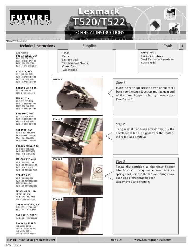 NEWLEXMARKT520TECH             Technical Instructions                          Supplies                                   ...