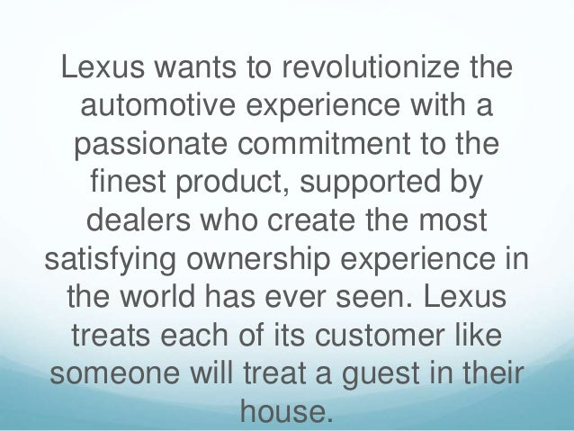 Lexus Marketing Mix