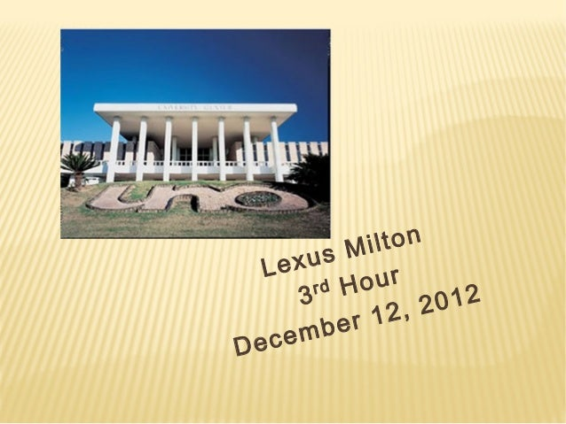 Lexus milton   uno