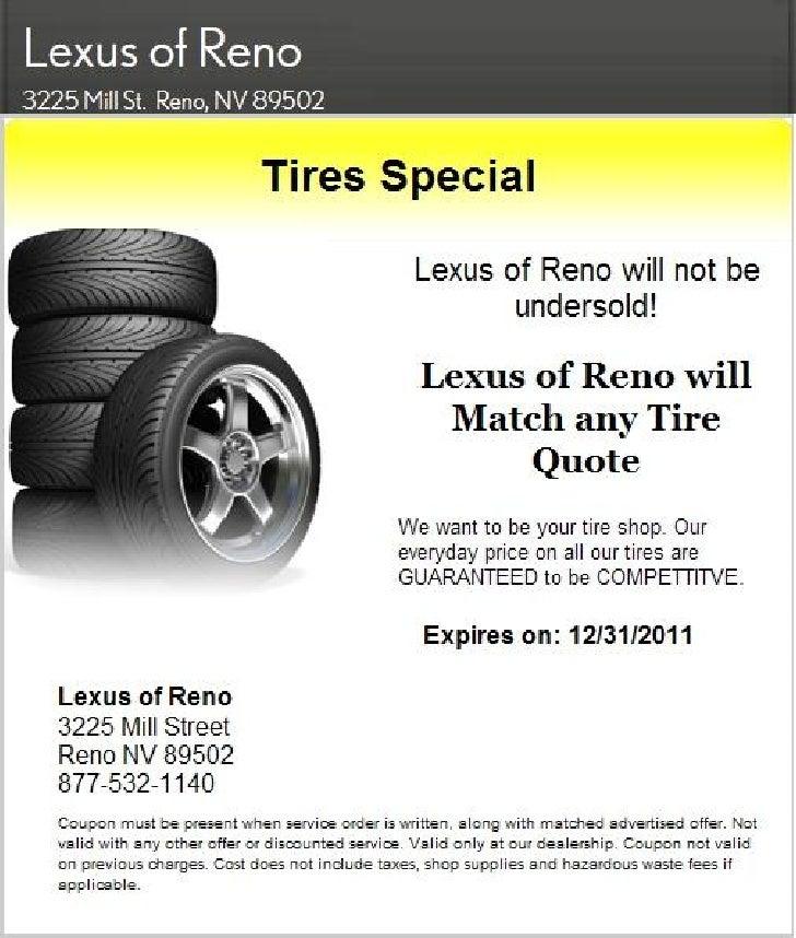 Lexus Tire Sale Special NV | Lexus Dealer In Nevada