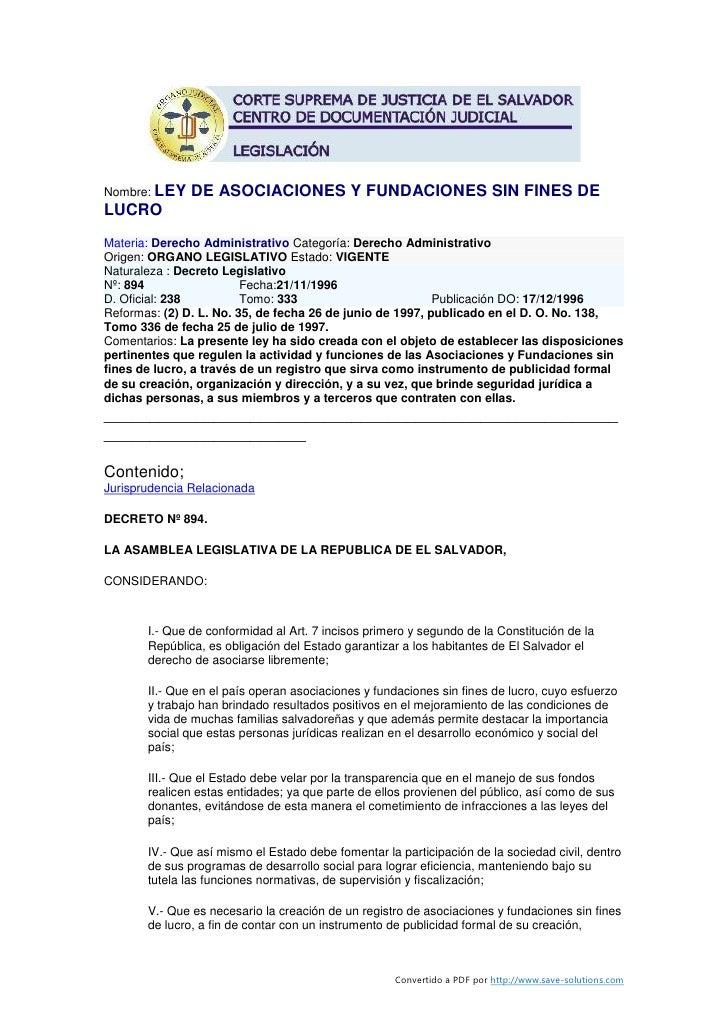 Ley de-asociaciones-y-fundaciones-sin-fines-de-lucro