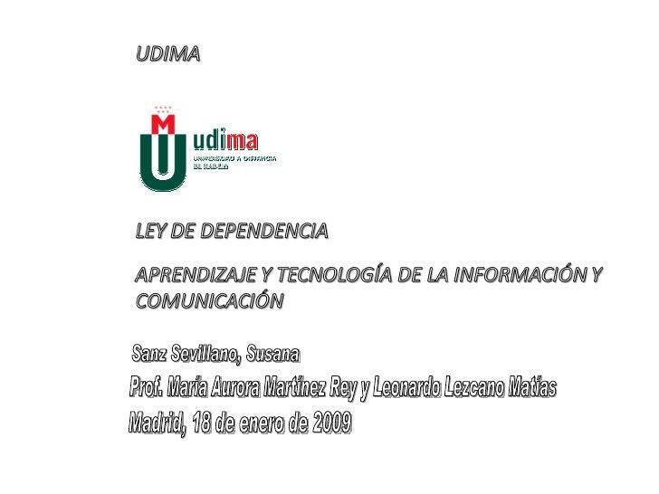 Sanz Sevillano, Susana Prof. María Aurora Martínez Rey y Leonardo Lezcano Matías  Madrid, 18 de enero de 2009