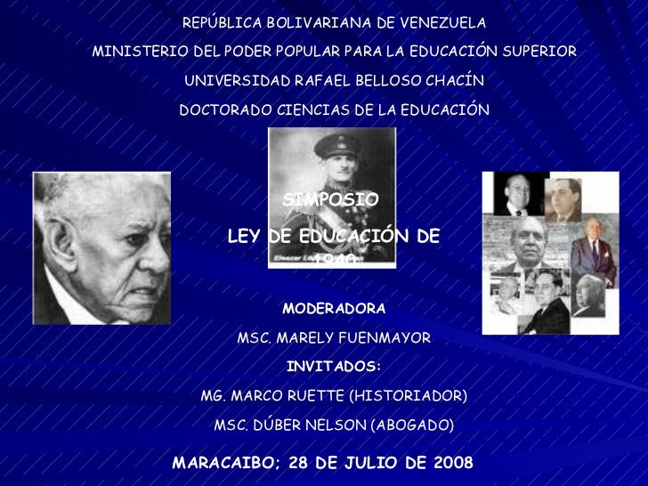 REPÚBLICA BOLIVARIANA DE VENEZUELA MINISTERIO DEL PODER POPULAR PARA LA EDUCACIÓN SUPERIOR UNIVERSIDAD RAFAEL BELLOSO CHAC...
