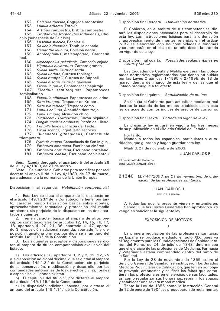 Ley Ordenacion Profesiones Sanitarias