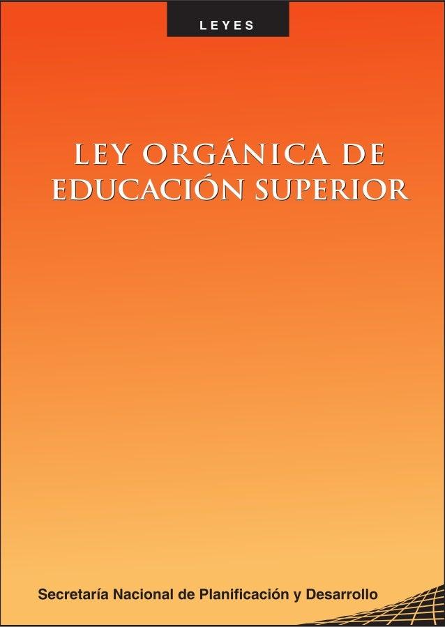 Ley orgánica-de-educación-superior