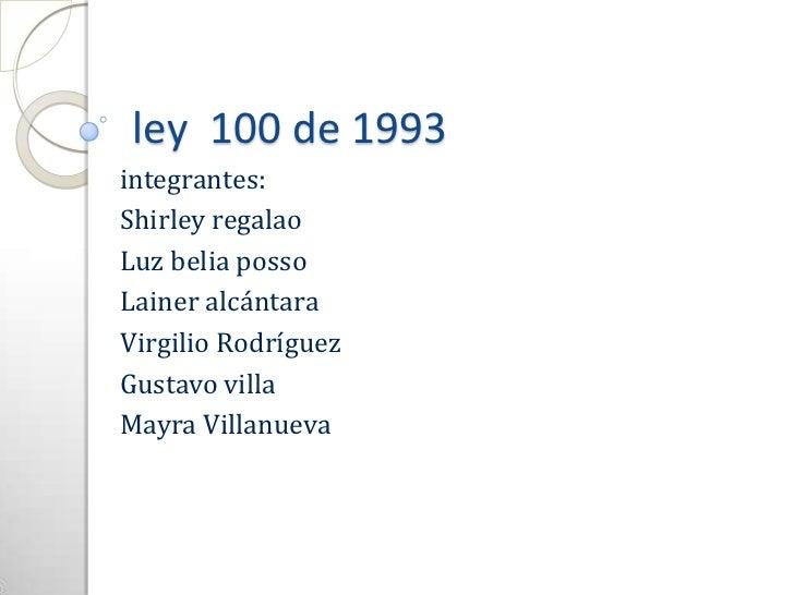 ley 2 1993: