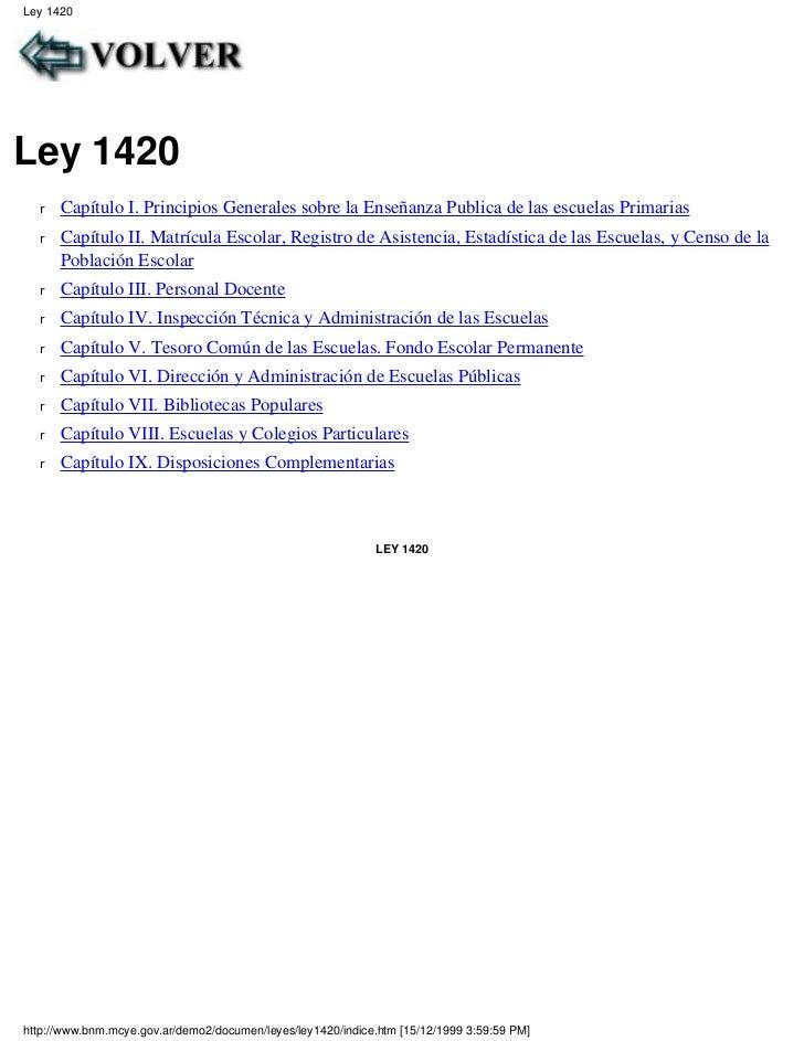 1 ley 1420 de 1884: