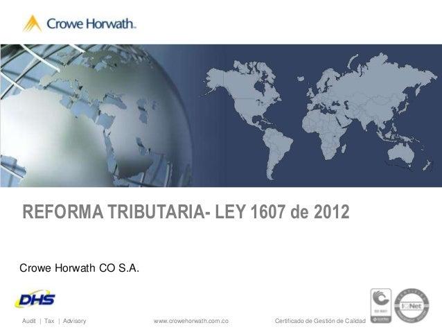 Evento DHS Reforma Ley 1607 de 2012 20 de Marzo Microsoft