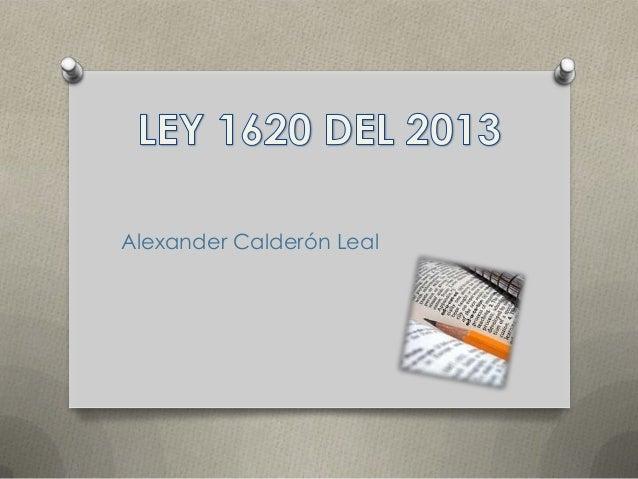Ley 1620 del 2013