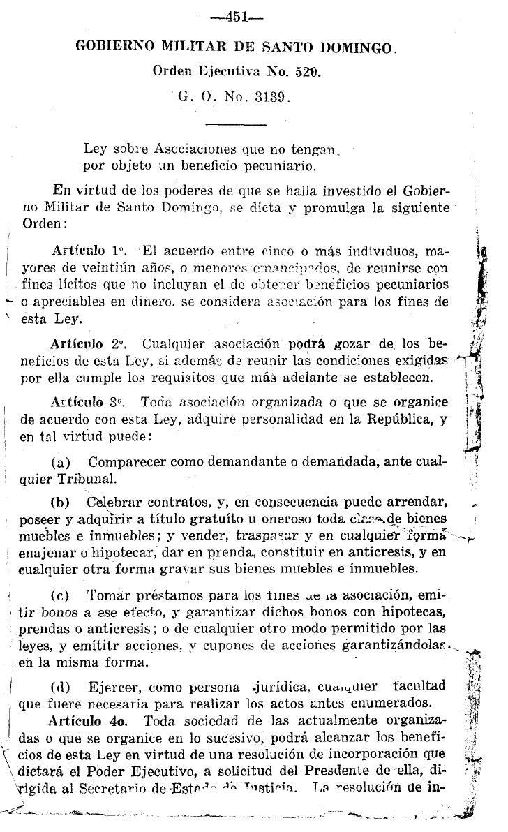 451-                       GOBIERNO MILITAR DE SAXTO DOMINGO.                                    Orden Ejecutiva No. 529. ...