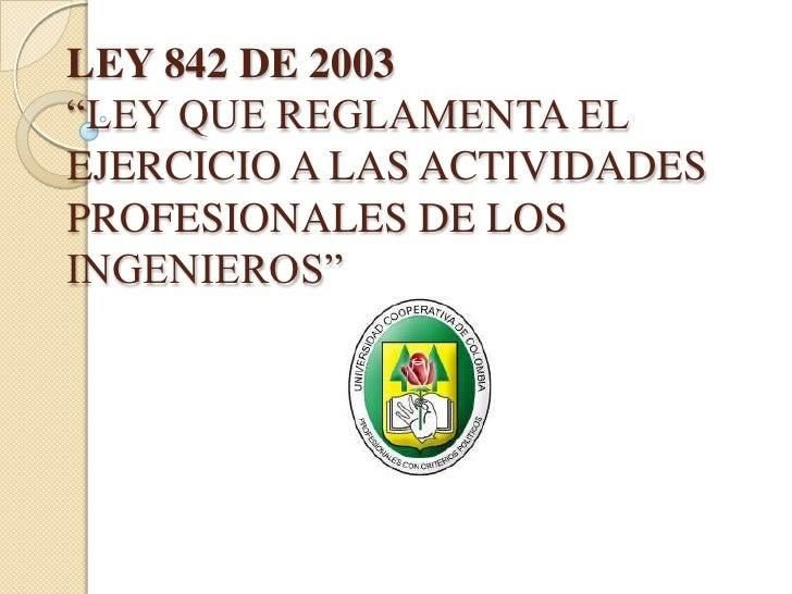 ley 5 2003 de 20: