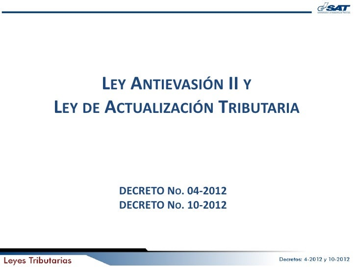 Ley antievacion 2 sat