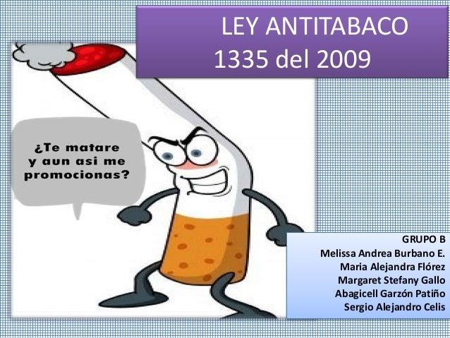 leyes antitabaco:
