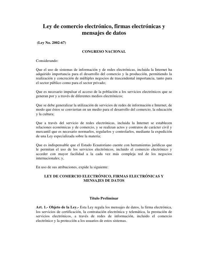 Ley comercio electronico_firmas_mensajes