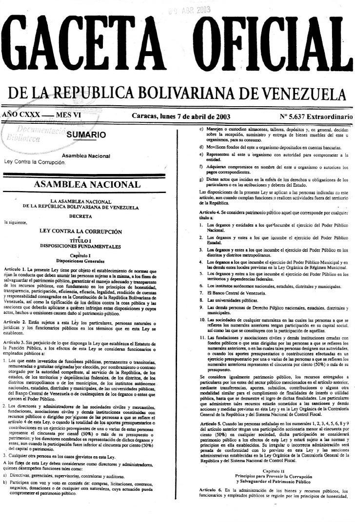 ley 25 2003 de: