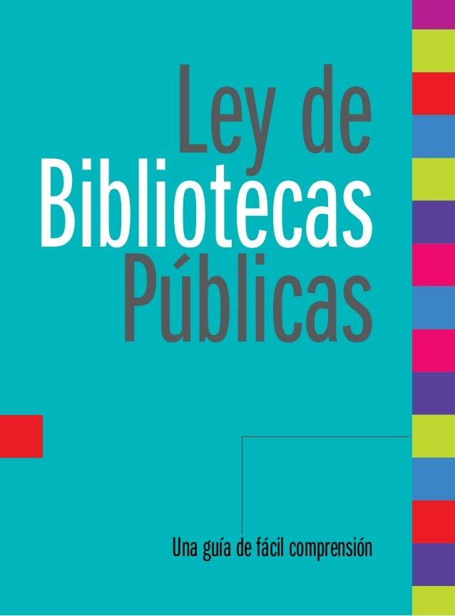 Ley de bibliotecas