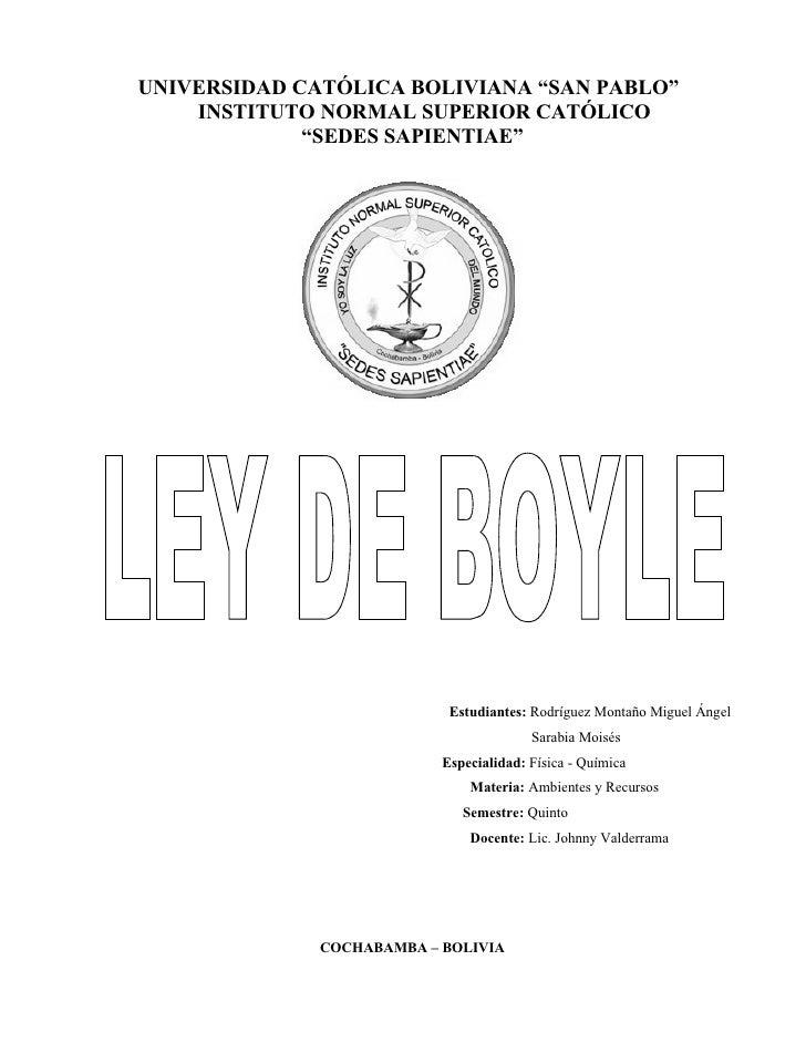 """UNIVERSIDAD CATÓLICA BOLIVIANA """"SAN PABLO""""     INSTITUTO NORMAL SUPERIOR CATÓLICO              """"SEDES SAPIENTIAE""""         ..."""