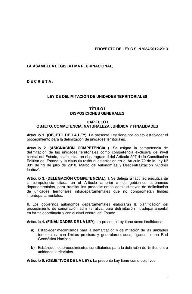 Ley de Delimitación Territorial