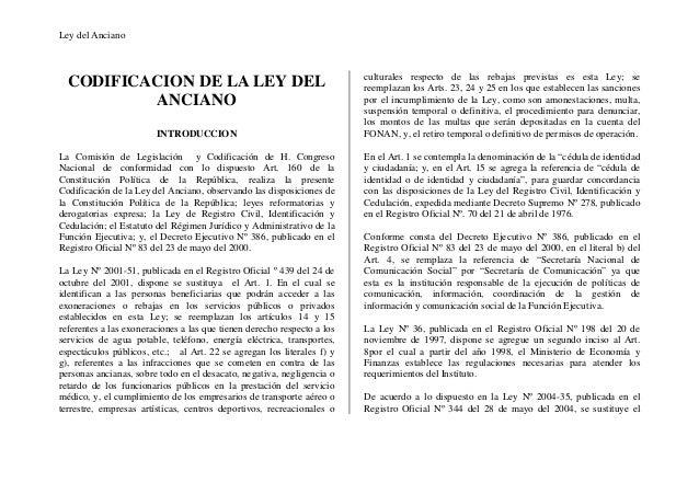 Ley del Anciano                                                                         culturales respecto de las rebajas...