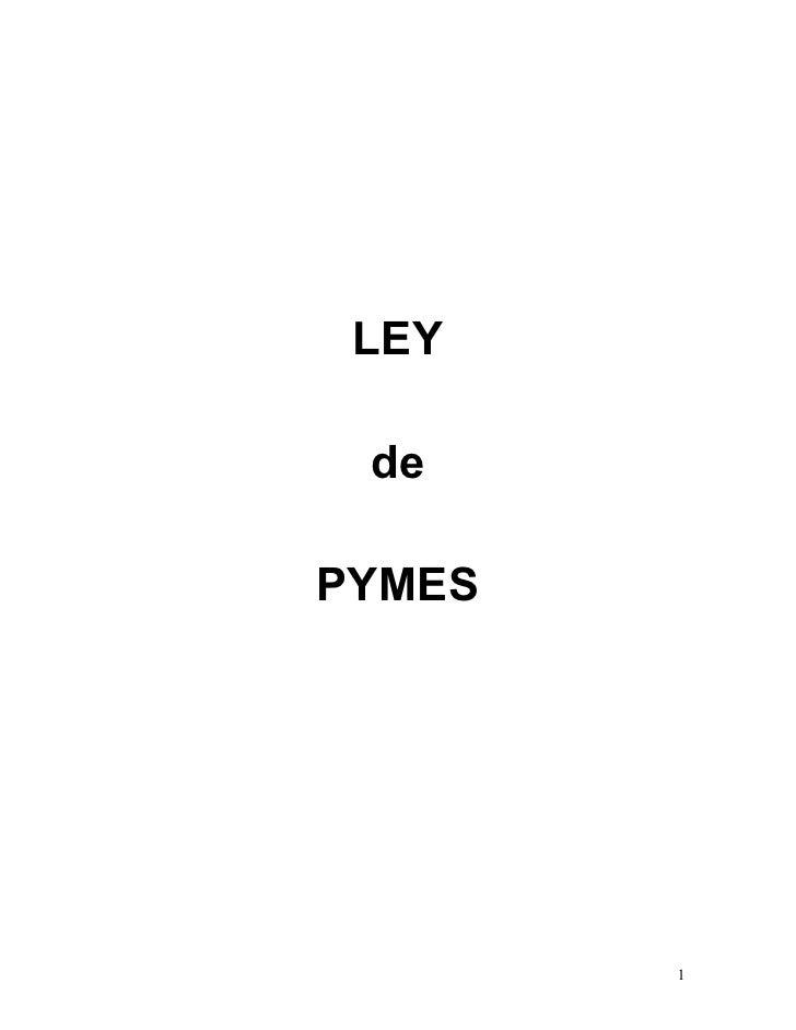 Ley  de las pymes