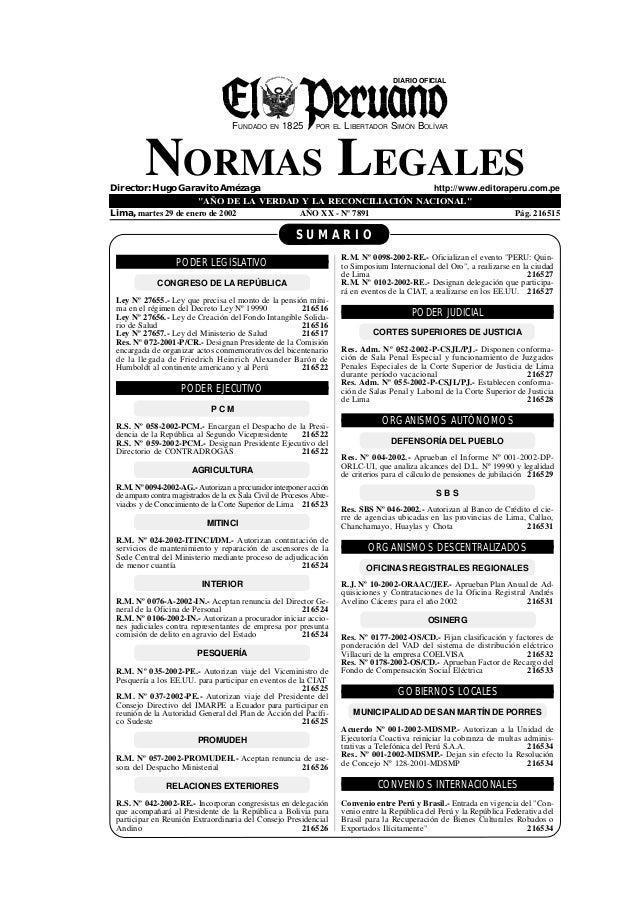 DIARIO OFICIAL                                     FUNDADO EN 1825          POR EL   LIBERTADOR SIMÓN BOLÍVAR         NORM...