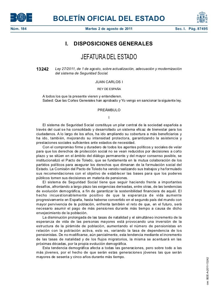 Ley de modernización de la ss
