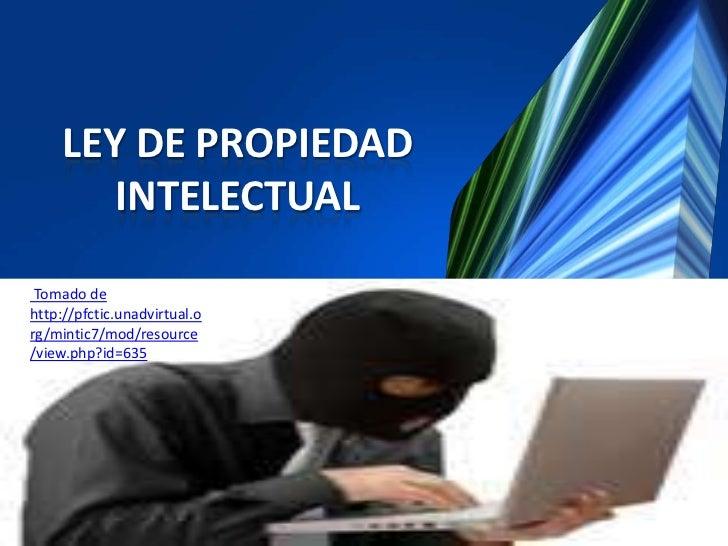 en ley de propiedad intelectual: