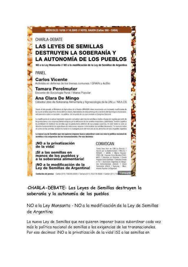 Las Leyes de Semillas destruyen la soberanía y la autonomía de los pueblos