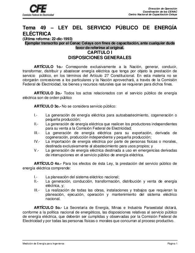 Dirección de Operación Coordinación de los CENAC Centro Nacional de Capacitación Celaya Medición de Energía para Ingeniero...
