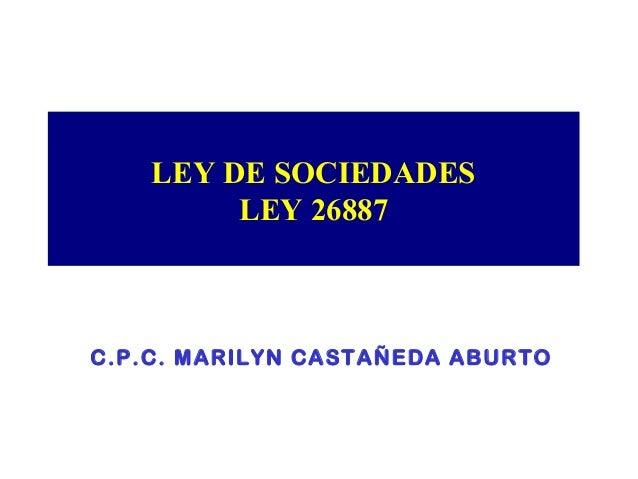ley de sociedades 26887: