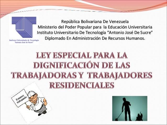 República Bolivariana De Venezuela Ministerio del Poder Popular para la Educación UniversitariaInstituto Universitario De ...