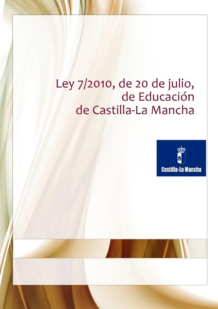 Ley 7/2010, de 20 de julio, de Educación de Castilla-La Mancha