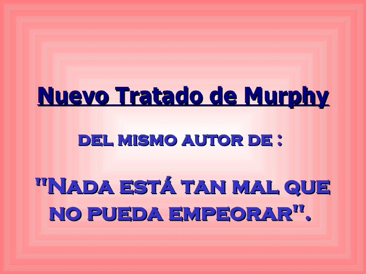 Leyes de Murphy