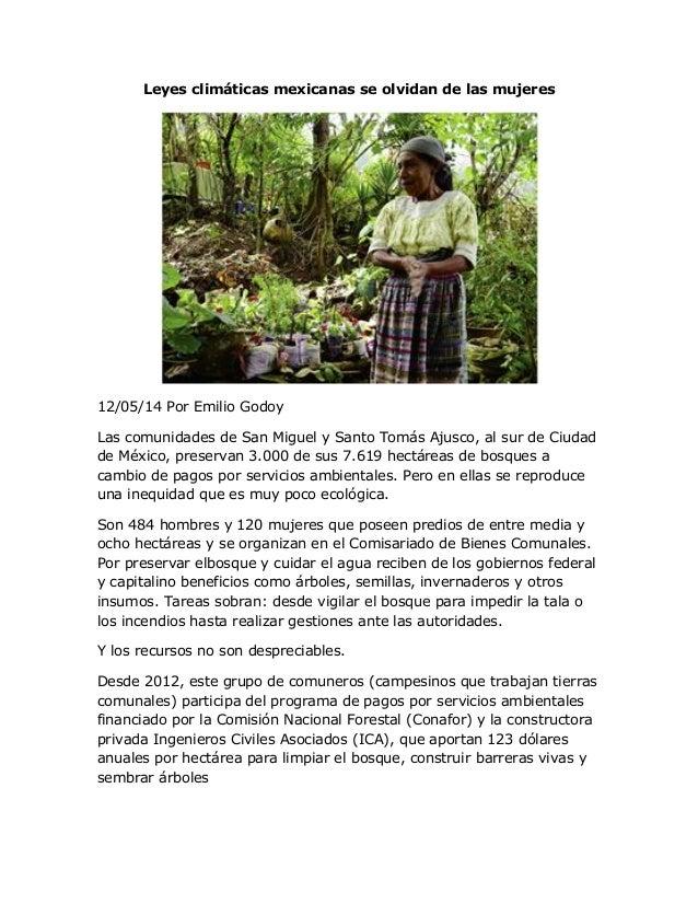Leyes climáticas mexicanas se olvidan de las mujeres