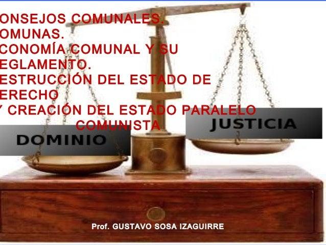 Leyes consejos comunals comunas