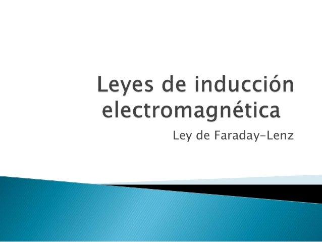 Ley de Faraday-Lenz
