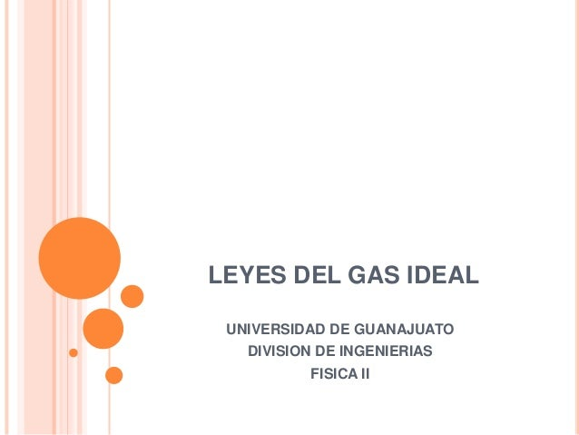 gas ideal: