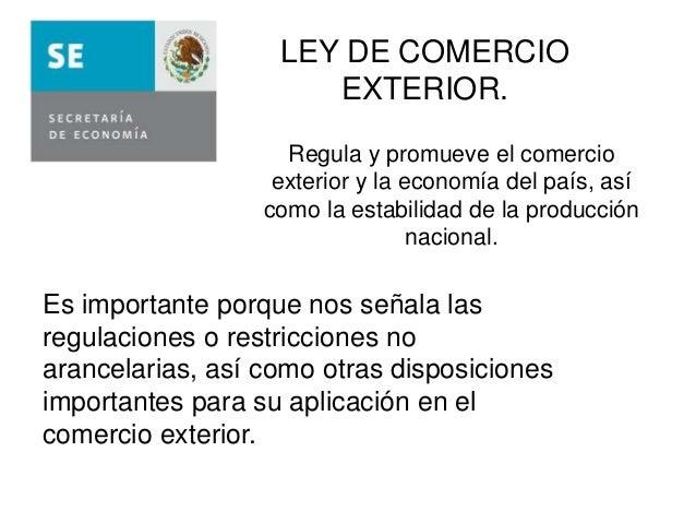 Leyes y reglamentos que rigen elcomercio exterior for Que es el comercio interior