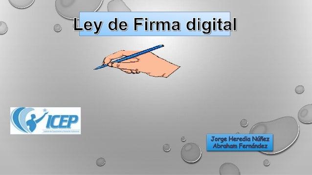 Ley firma digital