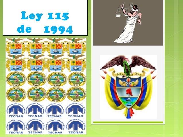 118 ley 115 de 1994: