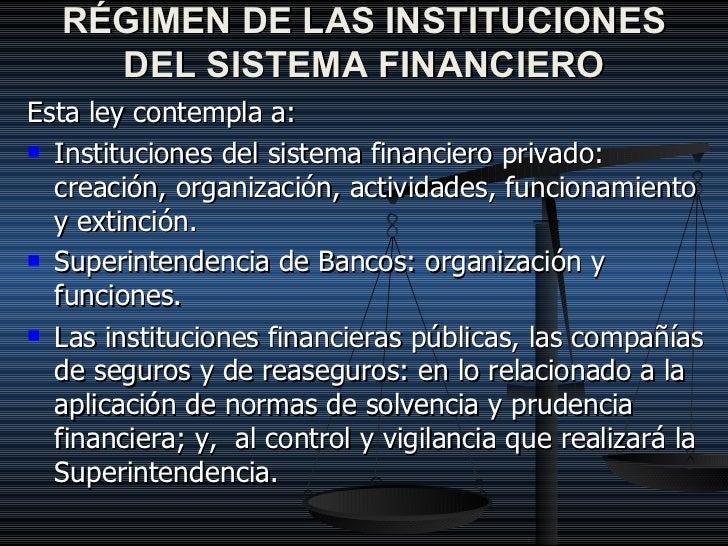 Ley general del sistema financiero